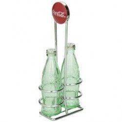 Salero y pimentero en forma de botella de Coca-Cola con base metálica CC339N