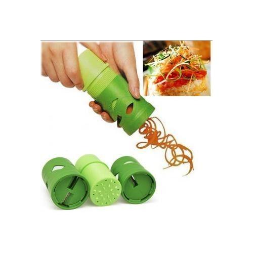 Nueva Fácil Uso Verdura & Fruta Torcer Cortador de la máquina Herramienta de la cocina Decore Utensilios Cuchillas de Cepillador