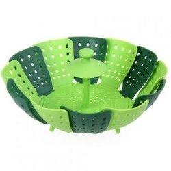 Silicone Cesta Folding Steamer Basket fruit plate-Verde