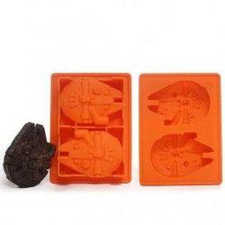 Molde Star Wars Falcon Milllenium Para Hielos Chocolate Gomitas-Color aleatorio