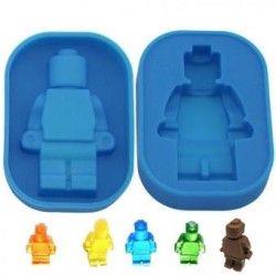 Molde De Silicon Hielos Hombrecillo Lego Gigante Azul