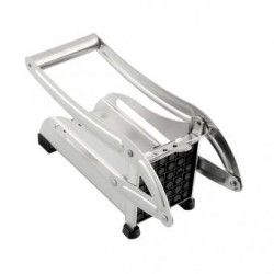 Duola Stainless Steel French Fries Slicer Cutter (Silver)