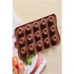 Moldes de silicona para hornear moldes para chocolate en forma de circulo.