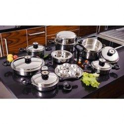 Batería de Cocina Classica Gold con 23 Piezas Acero Inoxidable Quirúrgico