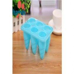 6- Holes DIY Ice Cream molde paletas molde (color al azar).