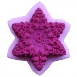 Moldes de silicona flor decoracion de pastel fondant molde molde hexagonal.