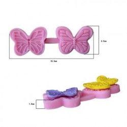 Molde de silicona para hornear molde mariposa decoracion de pastel de fondant.