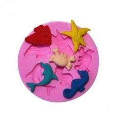 Mar mundo fondant molde para hornear moldes decoracion de la torta del molde.
