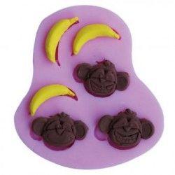 3D mono banana molde del caramelo de chocolate del molde molde de forma de un jabon torta del molde de silicona fondant Cake