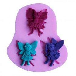 Tres Angel forma de caramelo de chocolate del molde de silicona Gelatina 3D de dibujos animados figre / herramientas de pastel