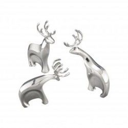 Set de 3 renos decorativos MT0384 Metal