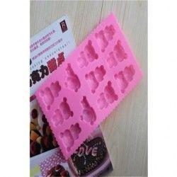 Moldes de silicona para hornear moldes para pastel de chocolate adorable oso jalea (colores aleatorios)