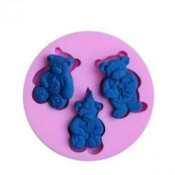 Molde para hornear moldes oso decoracion de pastel fondant molde (violeta).