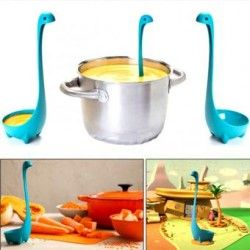 Generico feet bottom Nessie Loch Soup Ladle Upright Spoon Kitchen Bar Blue Home