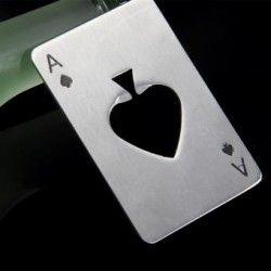Abridor Poker Card As de Picas Bottle Cap Bar Vino Abridor Herramienta Cerveza