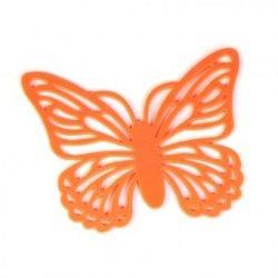 Portavaso Diseño Mariposa-Naranja