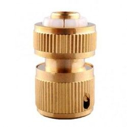 Generico Tube Brass Tap Connector Fitting 1/2' Quick Car Wash Garden Sealing Valve