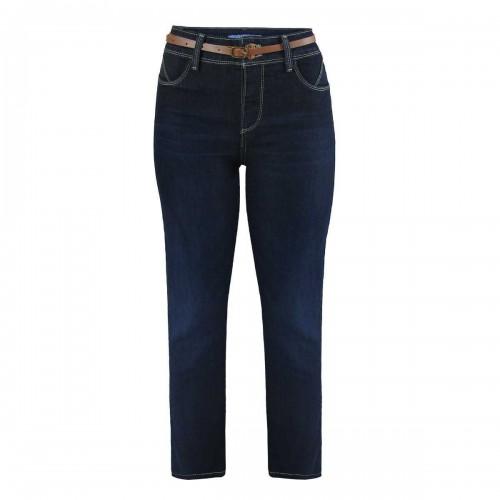 Jeans Corte Recto y Cinturón Natural