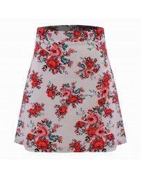 Falda Estampado de Rosas Yhasbel