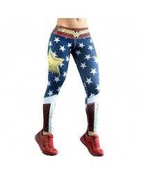 Leggings maravilla guerrera comic superheroina cosplay