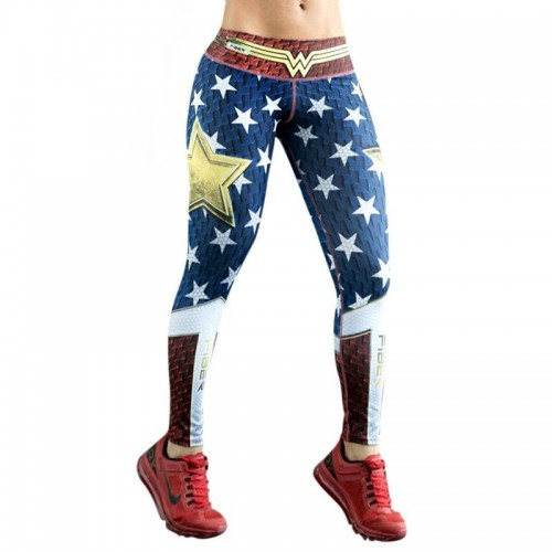 Leggings maravilla guerrera comic superheroina cosplay