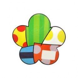 Porta Plato Con Diseño De Flores Multicolor - Elmar