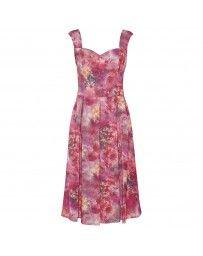 Vestido Largo Estampado Floral By Hollywood Nites