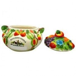 Frasco (Frutas) 18X20cm Decore-Multicolor