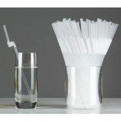Desechables transparentes paja, flexible, 100pcs