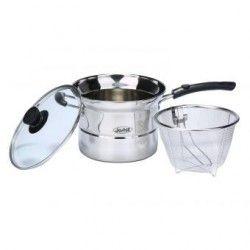 louiwill 3 en 1 de acero inoxidable doble fondo de fideos Pot Pasta Pot (plata)