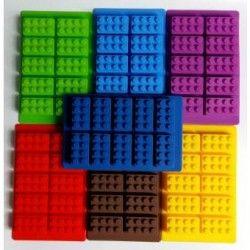 Bloques Lego Molde de Silicon Para Hielos Chocolate Gomitas-Color aleatorio