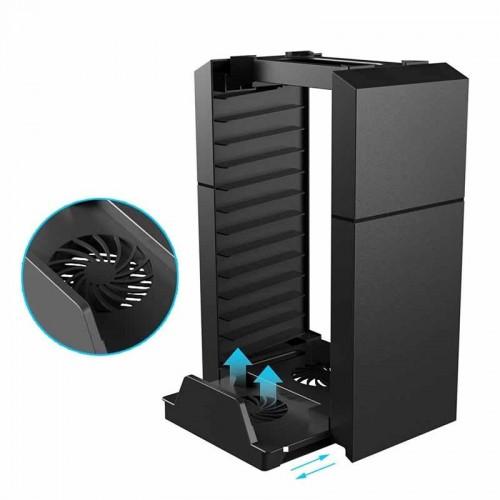 Base Enfriadora Con Organizador De Discos Disponible Con PlayStation 4 - PlayStation 4 Slim - PlayStation 4 Pro