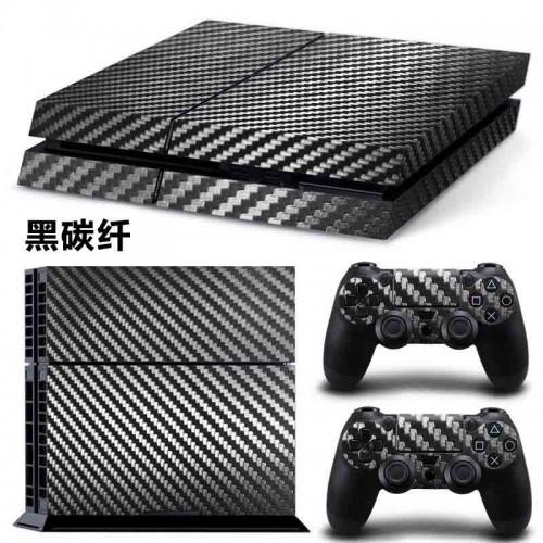 PS4 Vinyl Skin Estampas Compatible Con La Cónsola PlayStation 4 y Para 2 Controles PlayStation 4 (Carbono)