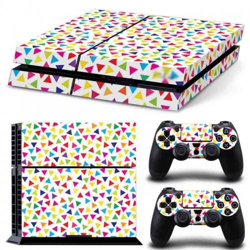 PS4 Vinyl Skin Estampas Compatible Con La Cónsola PlayStation 4 y Para 2 Controles PlayStation 4 (Colores Varios)