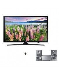 "Paquete Pantalla Samsung 40"" Full HD y Microcomponente Samsung UN40J5000 + MM-J430"