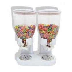 Dispensador de Cereal Deluxe Doble -Blanco