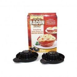 Base para hacer Bowls de Tocino Queen Sense Modelo Bacon 2 piezas-Negro