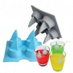 Shark Freeze Molde Aleta Tiburon Para Hacer Hielo Bares