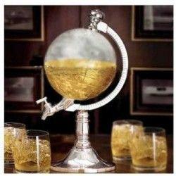 Dispensador De Cerveza Bebidas Modelo Globo Terraqueo