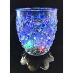 Vaso Luminoso con 5 Led Multicolor Fiesta de Colores-Escamas