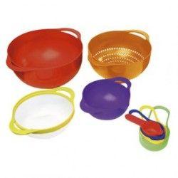 Contenedores de plástico Arcoiris Queen Sense 8 piezas-Multicolor