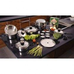 Batería de Cocina Classica Gold Set con 18 Piezas Acero Inoxidable Quirúrgico