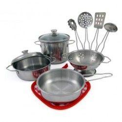 Set utensilios cocina trastes juego juguetes Kitchen Tools