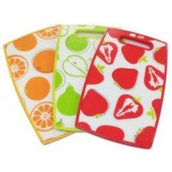 Set de 3 Tablas para Picar Mod. Peras, Fresas y Naranjas