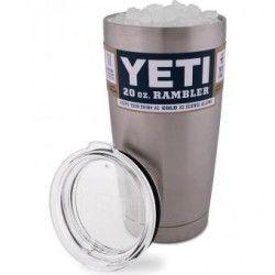 Yeti YRAM20 Coolers Vaso Rambler de 20oz - Color plata,