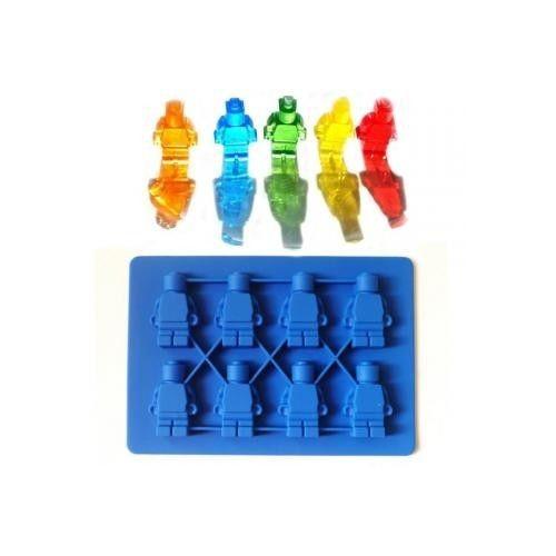 Muñeco Lego Molde Para Hielos Chocolate Gomitas-azul
