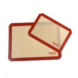CX estera de hornear 2-pc baking mat Finether rojo