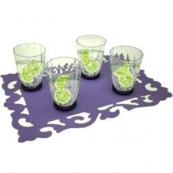 Set 4 Vasos de Plástico Mod. 9078245 - Transparente
