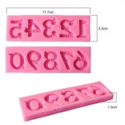 Los números 0 - 9 10 hermoso 3D molde de silicona con stick cookware antiadherente de agujero de barra comedor