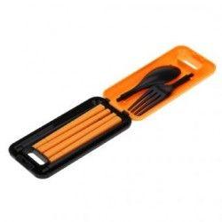 Viaje al aire libre de picnic vajilla portable respetuoso del medio ambiente ABS vajilla palillos cuchara Tenedor